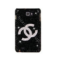Bling Chanel Swarovski Crystals Cases Covers For Samsung Galaxy Note i9220 N7000 - Black