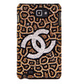 Bling Chanel Swarovski Crystals Cases Covers For Samsung Galaxy Note i9220 N7000 - Brown