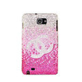 Bling Chanel Swarovski Crystals Cases Covers For Samsung Galaxy Note i9220 N7000 - Pink