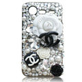 Bling Chanel Swarovski crystals diamond cases covers for HTC Incredible S S710D S710E G11 - Black