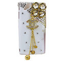 Bling Chanel crystals cases covers for Sony Ericsson Xperia Arc LT15I X12 LT18i - White