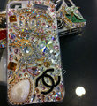 Bling Swarovski crystal cases Chanel Deer diamond cover for iPhone 5 - White