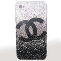 Bling Swarovski crystal cases Chanel diamond covers for Nokia 710 Lumia - Black