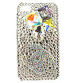 Bling chanel Swarovski diamond crystals cases covers for iPhone 4G - White