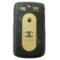 Chanel Luxury leather Cases Hard Skin Covers for Blackberry Bold 9700 - Black