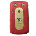 Chanel Luxury leather Cases Hard Skin Covers for Blackberry Bold 9700 - Red
