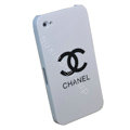 Chanel Ultrathin Scrub Hard Back Cases Covers for iPhone 4G/4S - White