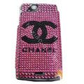 Chanel bling crystals cases covers for Sony Ericsson Xperia Arc LT15I X12 LT18i - Rose