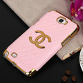 Chanel cover leather cases Holster Skin for Samsung N7100 GALAXY Note2 - Pink