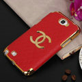Chanel cover leather cases Holster Skin for Samsung N7100 GALAXY Note2 - Red