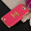 Chanel cover leather cases Holster Skin for Samsung N7100 GALAXY Note2 - Rose