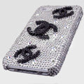 Chanel iphone 3G case Crystal diamond cover - white