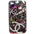Chanel iphone 3G case Swarovski crystal diamond cover - 01