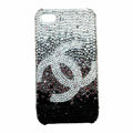 Chanel iphone 3G case crystal diamond Gradual change cover - black