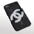 Chanel iphone 3G cases diamond covers - black