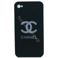 Chanel iphone 4G case Ultra-thin scrub color cover - black