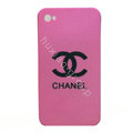 Chanel iphone 4G case Ultra-thin scrub color cover - pink