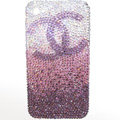 Chanel iphone 4G case crystal diamond Gradual change cover - 01