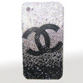 Chanel iphone 4G case crystal diamond Gradual change cover - 02