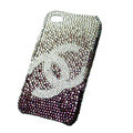 Chanel iphone 4G case crystal diamond Gradual change cover - 04