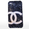 Chanel iphone 4G case crystal diamond cover - black