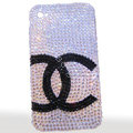 Chanel iphone 4G case crystal diamond cover - white