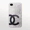 Chanel iphone 4G cases advanced diamond covers - white