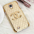 Chanel leather Case Hard Back Cover for Samsung GALAXY S4 I9500 SIV - Beige