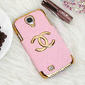 Chanel leather Case Hard Back Cover for Samsung GALAXY S4 I9500 SIV - Pink