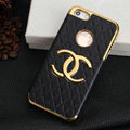 Chanel leather Cases Luxury Hard Back Covers Skin for iPhone 5 - Black