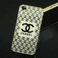 Chanel ultrathin hard back cases covers for iPhone 4G - White