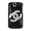 Brand new Chanel bling crystal case for HTC G7 - black