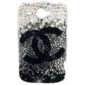Chanel bling crystal case for HTC G8 - black