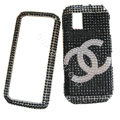 Chanel bling crystal case for Nokia N97 mini - black