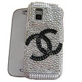 Chanel bling crystal case for Nokia N97 mini - white