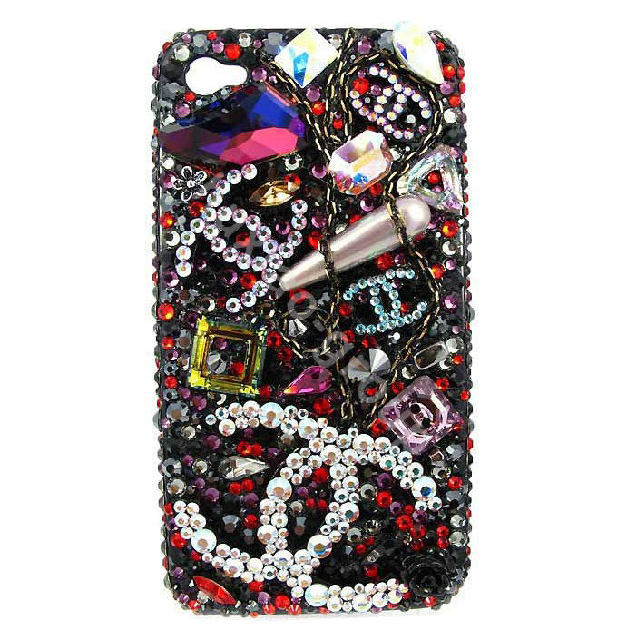 Case Design chanel phone cases : Chanel Swarovski Iphone 5 Case Bling crystal cases chanel