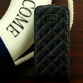 Chanel Genuine leather Case Flip Holster Cover for iPhone 5 - Black