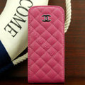 Chanel Genuine leather Case Flip Holster Cover for iPhone 5 - Rose