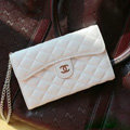 Chanel Handbag leather Case Wallet Holster Cover for Samsung N7100 GALAXY Note2 - White