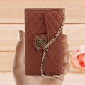 Chanel Handbag leather Cases Wallet Holster Cover for iPhone 4G 4S - Brown