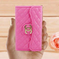 Chanel Handbag leather Cases Wallet Holster Cover for iPhone 4G 4S - Rose