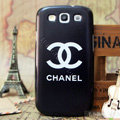 Chanel Hard Cover Matte Cases Skin for Samsung Galaxy SIII S3 I9300 - Black