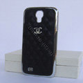 Chanel Hard Cover leather Cases Holster Skin for Samsung GALAXY S4 I9500 SIV - Black