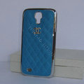 Chanel Hard Cover leather Cases Holster Skin for Samsung GALAXY S4 I9500 SIV - Blue