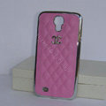 Chanel Hard Cover leather Cases Holster Skin for Samsung GALAXY S4 I9500 SIV - Pink