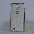 Chanel Hard Cover leather Cases Holster Skin for Samsung GALAXY S4 I9500 SIV - White