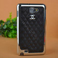 Chanel Hard Cover leather Cases Holster Skin for Samsung Galaxy Note i9220 N7000 i717 - Black