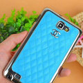 Chanel Hard Cover leather Cases Holster Skin for Samsung Galaxy Note i9220 N7000 i717 - Blue