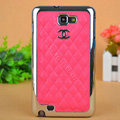 Chanel Hard Cover leather Cases Holster Skin for Samsung Galaxy Note i9220 N7000 i717 - Pink
