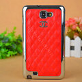 Chanel Hard Cover leather Cases Holster Skin for Samsung Galaxy Note i9220 N7000 i717 - Red
